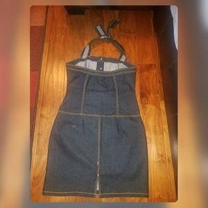 Goodtime Dresses - GOODTIME Blue Denim Halter Backless Dress